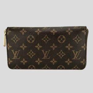 Louis Vuitton Toile Monogram Zippy Wallet Purse